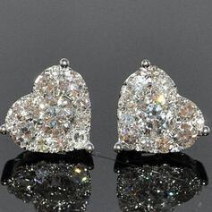Heart Shaped Alloy With Heart Shaped Women's Earrings