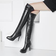 Women's PU Stiletto Heel Boots With Zipper shoes