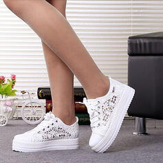 Women's Mesh Flat Heel Flats With Lace-up Hollow-out shoes