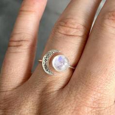 Stylish Boho Moon Alloy With Moon Women's Ladies' Girl's Rings