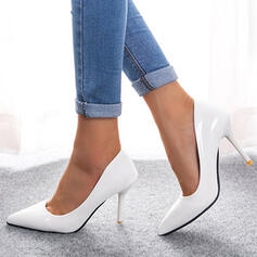 Women's PU Stiletto Heel Pumps Heels With Solid Color shoes