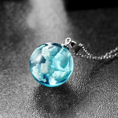 Unique Alloy With Resin Women's Necklaces