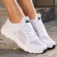 Women's Cloth Mesh Flat Heel Flats Sneakers With Hollow-out Solid Color shoes