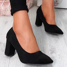 Women's PU Chunky Heel Pumps With Solid Color shoes