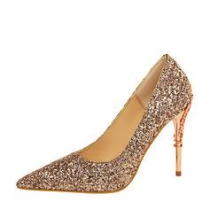 Women's Sparkling Glitter Stiletto Heel Pumps With Sparkling Glitter Jewelry Heel shoes