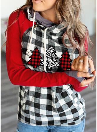 Christmas Leopard Plaid Long Sleeves Christmas Sweatshirt