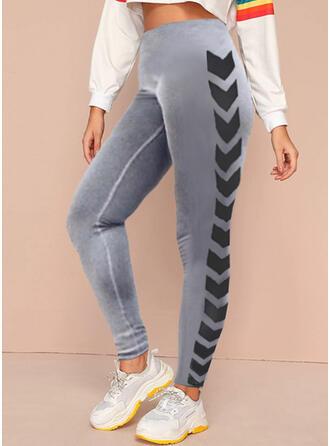 Print Long Casual Sporty Pants