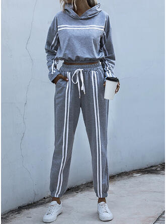 Print Casual Sweatshirts & Two-Piece Outfits Set