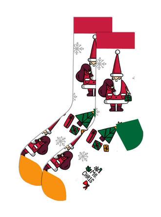 Print/Christmas Santa Breathable/Christmas/Crew Socks/Unisex Socks