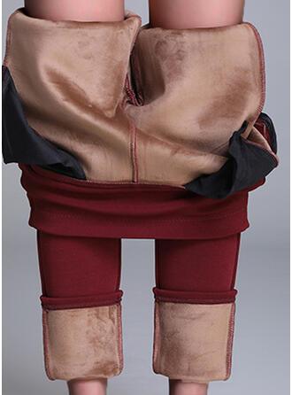 Solid Plus Size Elegant Sexy Leggings