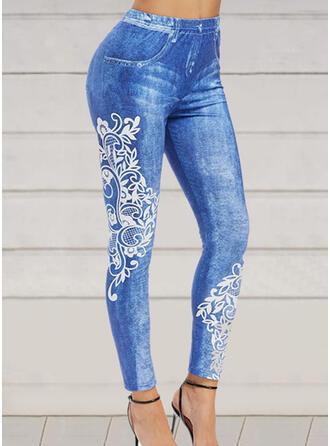 Print Plus Size Long Elegant Sexy Pants Leggings