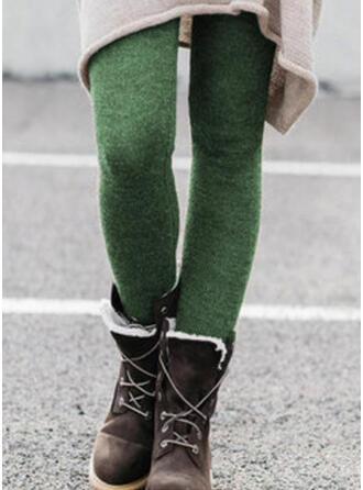 Solid Shirred Plus Size Elegant Sexy Pants Leggings