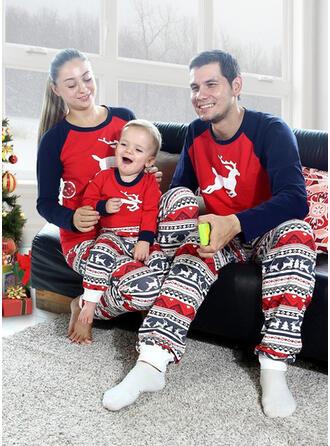 Reindeer Color Block Family Matching Christmas Pajamas