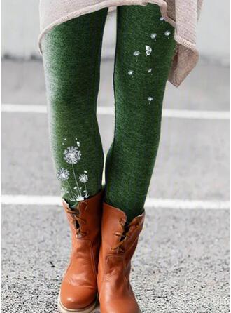 Jacquard Print Plus Size Skinny Vintage Leggings