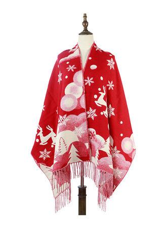 Floral/Tassel/Christmas Shawls/fashion/Christmas Scarf/Shawl