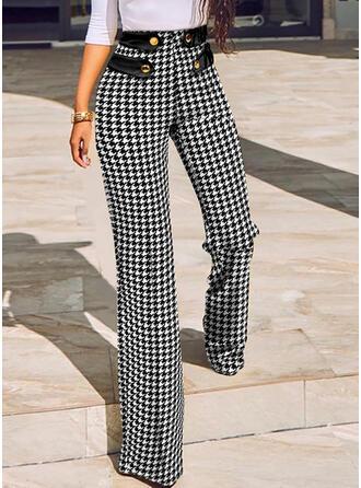 Plaid Long Casual Pants