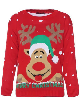 Unisex Polyester Reindeer Ugly Christmas Sweater